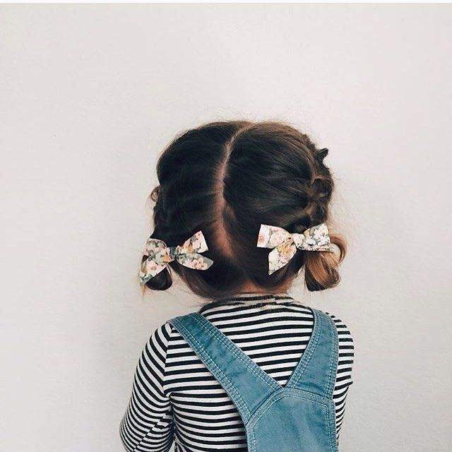 tiny braids and bows