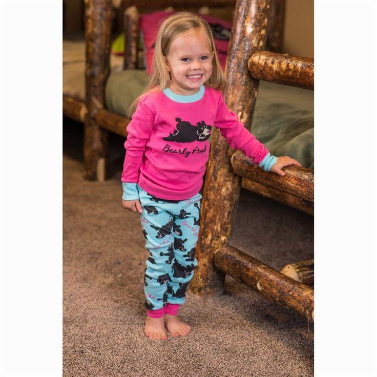 Girls Bearly Awake Long Sleeve Pyjamas Set