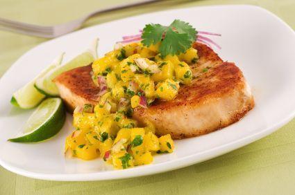 Curried Mango Pork Chops: 275 calories, 25g #protein
