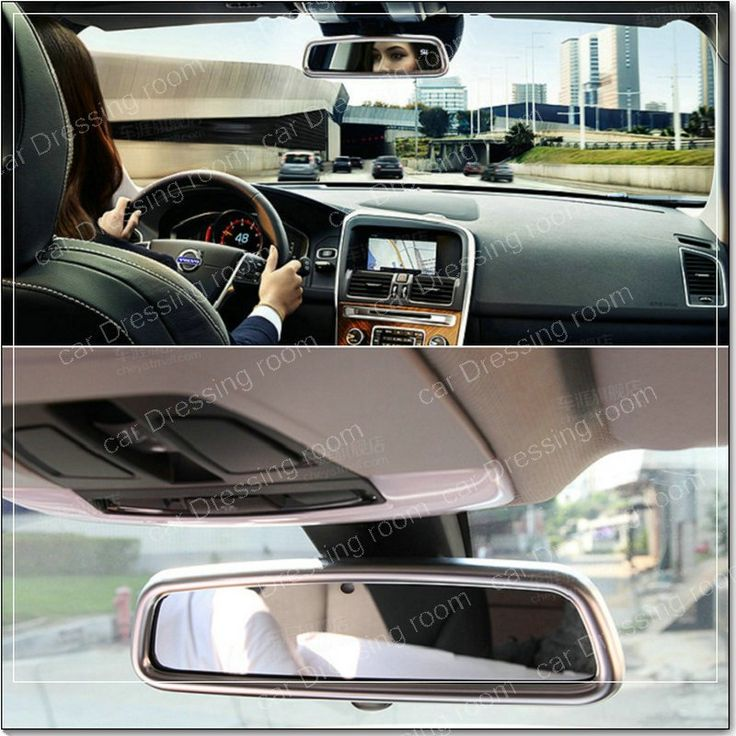 Sale US $22.94  Car interior Rearview mirror decorative frame cover trim Chrome ABS strip Car styling sticker for Volvo XC60 V60 S40 S60
