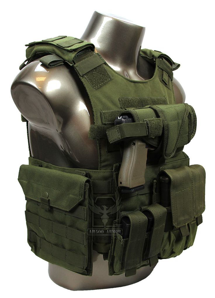AR500 Armor® Quick Release Carrier Package Closed Top Pouch View - OD