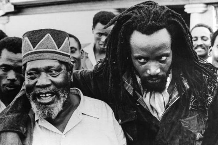 Field Marshal Musa Mwariama Leader of mau mau with Jomo Kenyatta