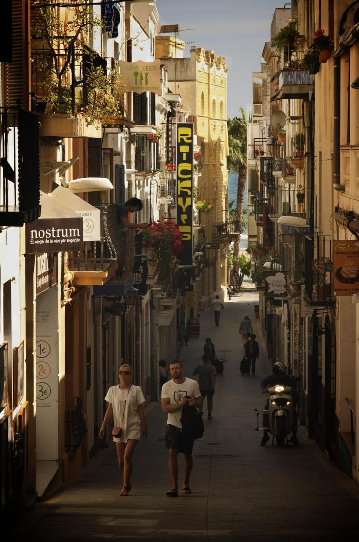 Carrer Sant Pau, Sitges (Barcelona).