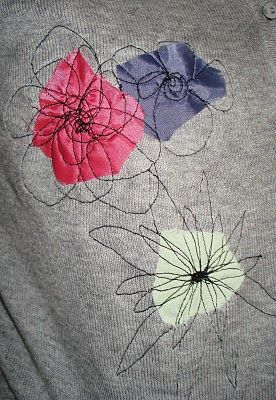 Awesome idea for embellishing stuff. Would work great for patching jeans....