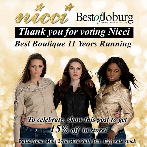 "Thank you for voting Nicci ""Best Boutique""11 years running <3 BIG LOVE!"