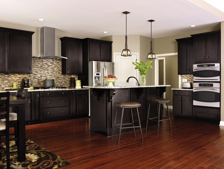 Modern Enough Aristokraft Kitchen Cabinets Dark Cabinets Kitchen