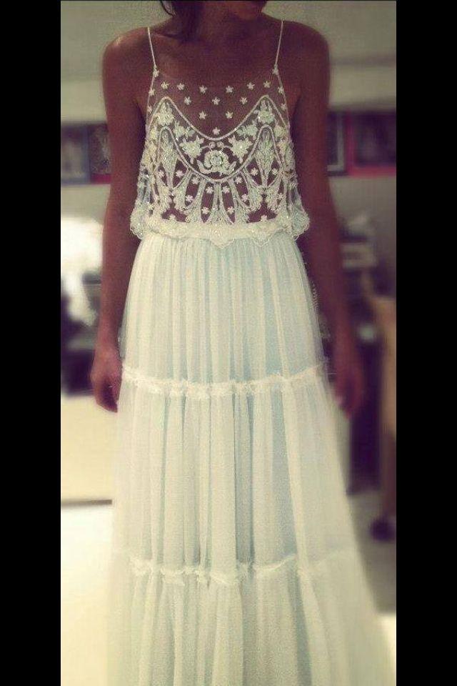 Boho wedding dress caris closet