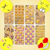 Wish | Lovely Phone Case For iPone 4 4S 5 5S 5C 6 6s 6Plus 6S Plus SE Transparent Soft Silicon Creative Emoji Design