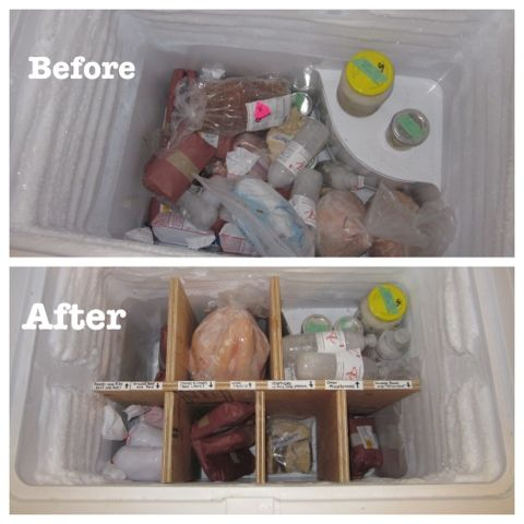 The Gigs Digs: Chest Freezer Organization