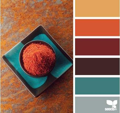 Color Spice by Design Seeds | Color & combination | color palette | color scheme would make a funky TYPOGRFX color palette!