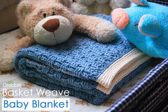 I don't think that I've ever seen a crochet basket weave before! If I didn't have 2 blankets coming for the baby from family, I would make one. Maybe a good winter project. Make a nice big one.......