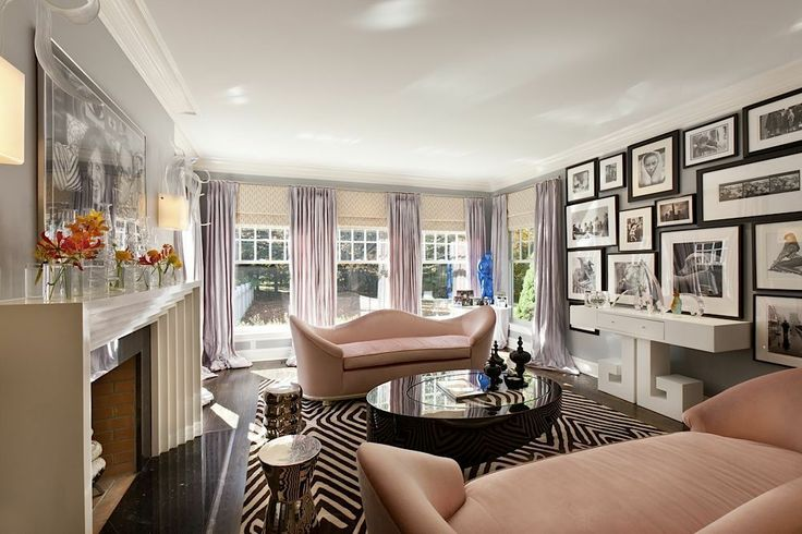 Radiant Orchid at Home - gallery walls (Rue)