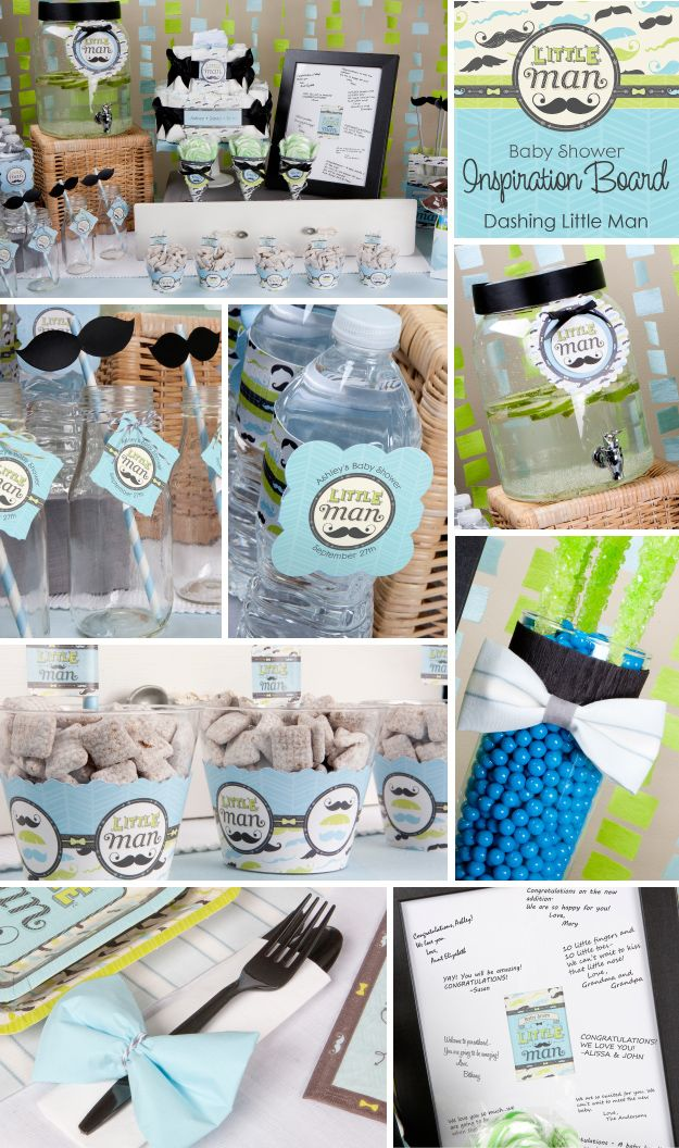 Little Man Baby Shower Decoration Ideas - Mustache party decorations | BigDotOfHappiness.com