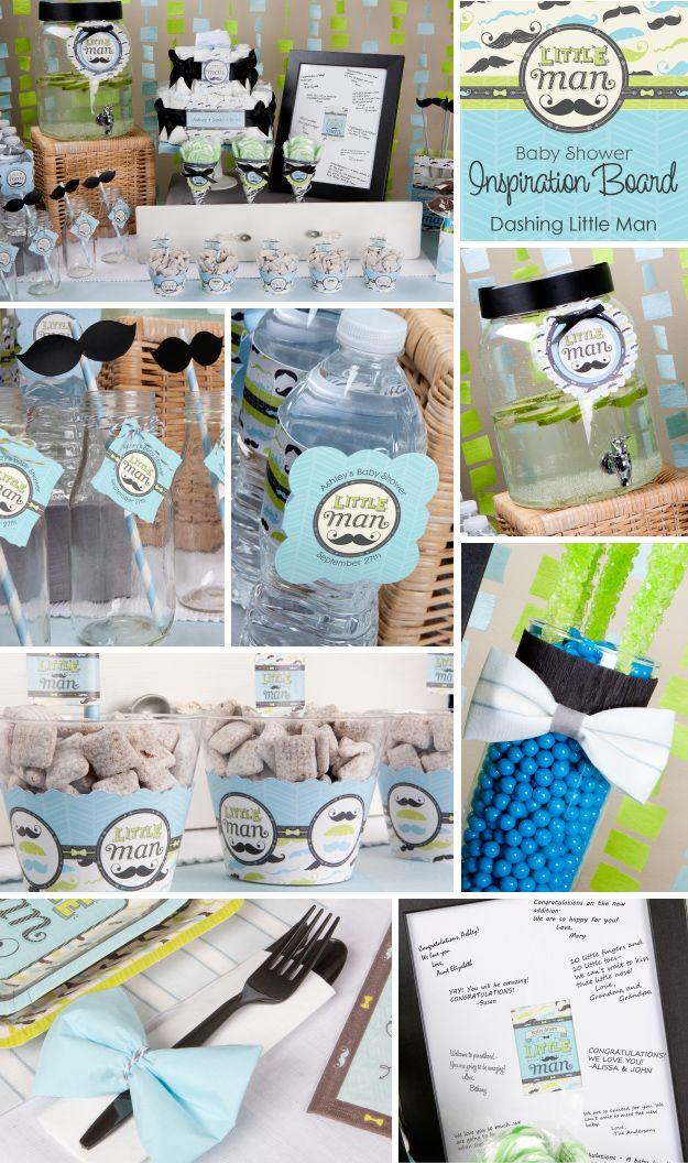 Little Man Baby Shower Decoration Ideas   BigDotOfHappiness.com #BabyShowerStuff #BabyShowerIdeas #BoyBabyShower