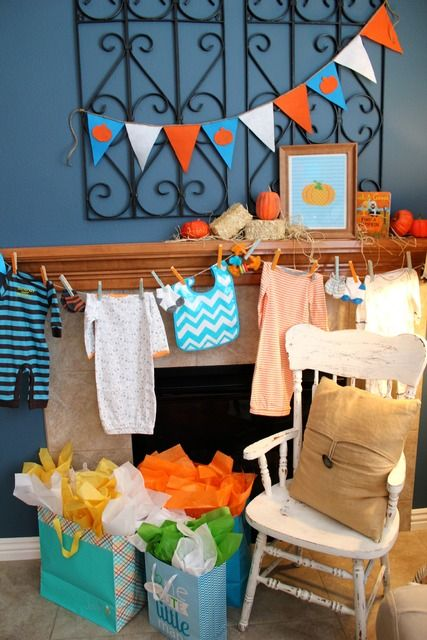 Pumpkin Baby Shower #pumpkin #babyshower