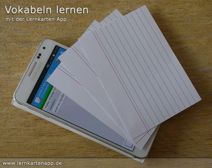Die Lernkarten App - #Lernkarten in digitaler Form. Ideal als #Vokabeltrainer für deinen nächsten #Vokabeltest.