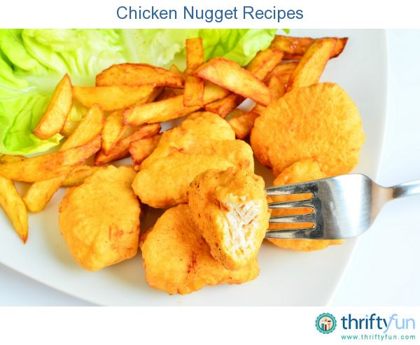 This page contains chicken nugget recipes. Chicken nuggets are a popular meal or snack. You don't have to go to your local fast food restaurant to order some, when you can make your own at home.