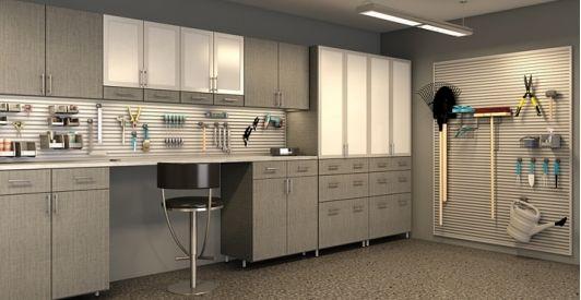 Garage storage grey linen home and garden design ideas for Closet world garage