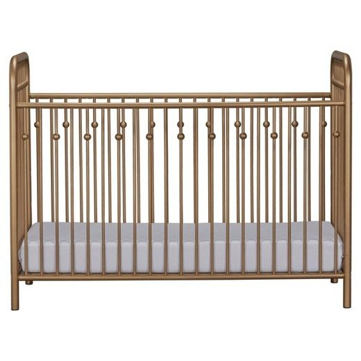 Create a sophisticated nursery with the Little Seeds Monarch Metal Crib. The metal frame has decorative accents along the side bars to replicate old Victorian style cribs with a modern update. The Monarch Hill Crib has rounded corners for your child's safety and 3 adjustable heights to grow with your baby. This adorable Crib fits standard sized crib mattress pad. Mattress pad not included. Little Seeds Monarch Hill Metal Crib requires assembly upon delivery.