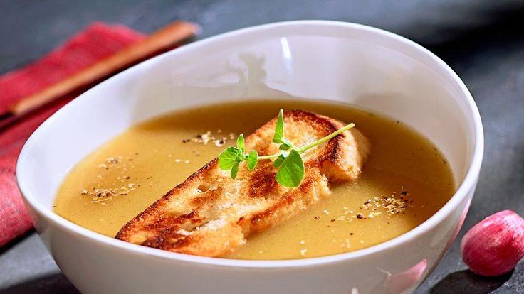 Česneková polévka bamborová (Lidl)
