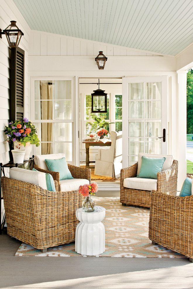 Love this farmhouse porch.