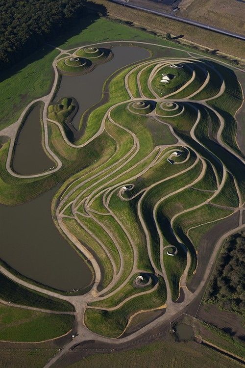 Northumberlandia, Northumberland, UK: this is close to blagdon, and created from coal waste.
