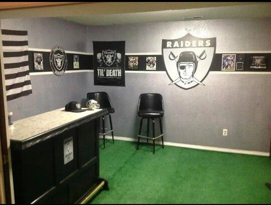 14 Best Oakland Raiders Rooms U0026 (wo)Man Caves Images On Pinterest | Raider  Nation, Man Caves And Oakland Raiders