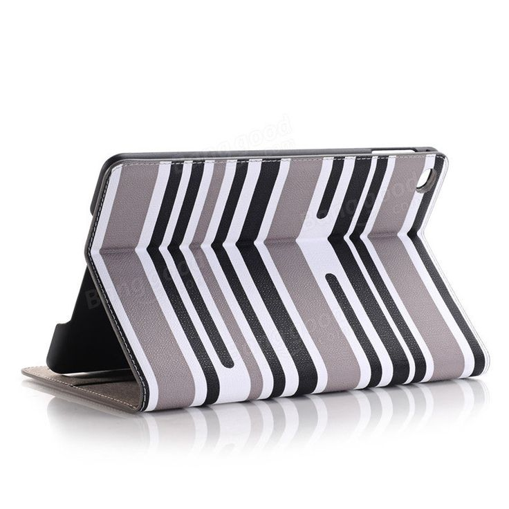 Mixing Stripes Plate Shell Flip PU Leather Case Cover For iPad Mini 4…