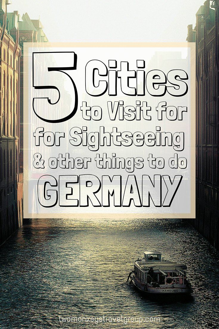 5 CITIES TO VISIT FOR SIGHTSEEING AND OTHER THINGS TO DO IN GERMANY. Land of black forests and rugged coastline, Lederhosen and sausage, sparkling Schlösser and the best wheat beer to be found on the continent, why would you not visit? Here we have put together a list of places to visit and things to do in #Germany #TwoMonkeysTravelGroup