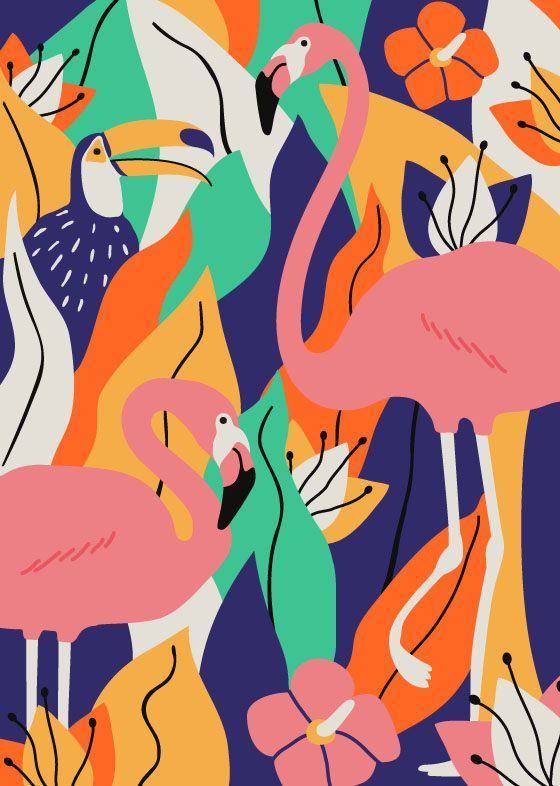 illustration | exotic animals - via Meier Delphine on @behance