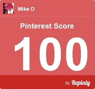 My Pinterest Score is 100 - Click the image to calculate your Pinterest influence