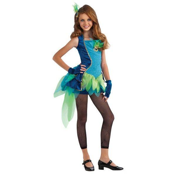 Pre-Teen Peacock Costume