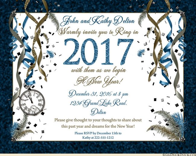 Golden New Years Eve Party Invitations Count Down Clock  Newcomer Cards Pinterest Party New Years Eve Party And Party Invitations