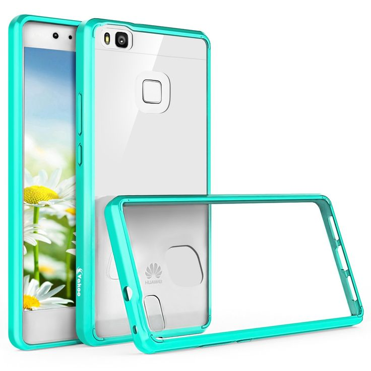 Huawei P9 Lite Funda - Vakoo Ultra delgada Protectiva Carcasa de TPU Transparente Case Cover para Huawei P9 Lite, Transparente Menta: Amazon.es: Electrónica