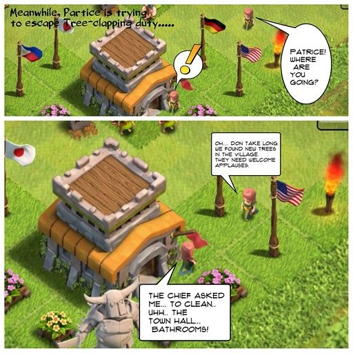 Clash of clans humour je vais nettoyer hum... Lol patrice xD #supercell