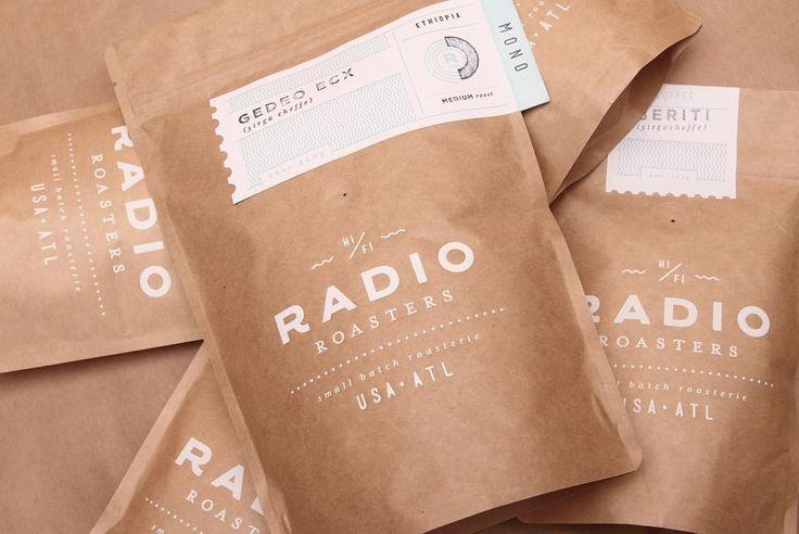 Radio Roasters Packaging by TNKR Design Co | Packaging & label designs | Pinterest | Förpackning, Branding och Radioapparater