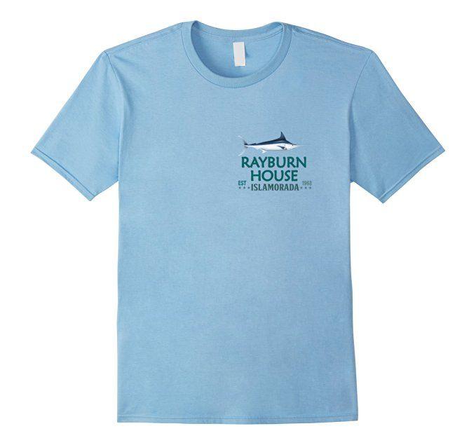 Men's Rayburn House T-Shirt Islamorada Florida Classic Series Tee 2XL Baby Blue