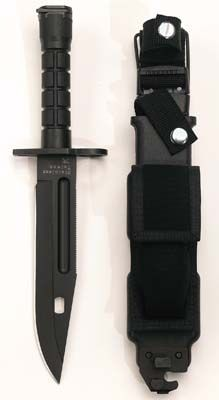 Military Knives Black GI Type M-9 Bayonet MILITARY KNIVES CAMPING TOOLS MILITARY WEAPONS  $75.81