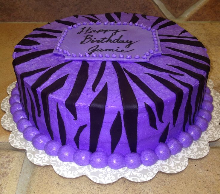 Purple Zebra Cake Design : Purple buttercream, zebra print Cake Stuff Pinterest ...