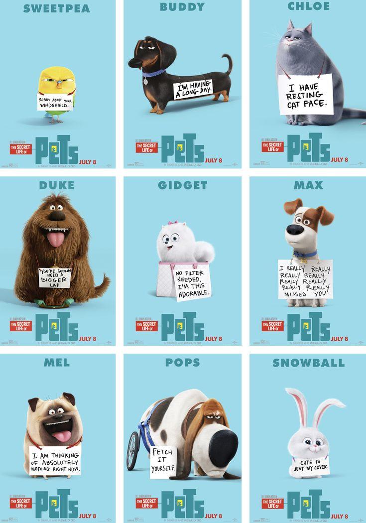 Characters Secret life of pets                                                                                                                                                     Más