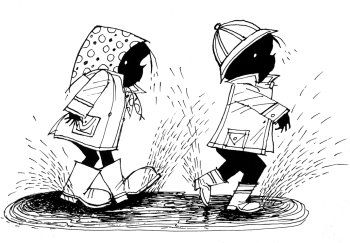 Jip en Janneke in de regen (Fiep Westendrop)