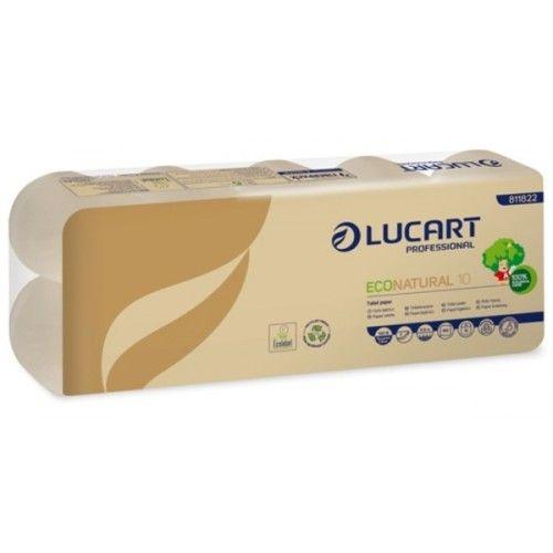 háztartási toalettpapír eco natural lucart 2 rétegű 10 tekercses 160 lapos