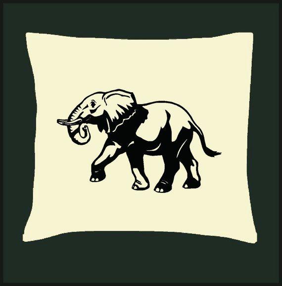 Africa Elephant Walking Cushion Cover by Pokkki on Etsy,