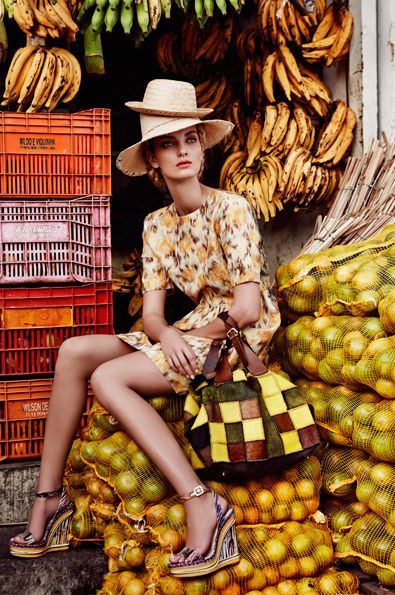 Marie Claire - In Living Colour: Our Brazil Fashion Shoot. #FlowerShop
