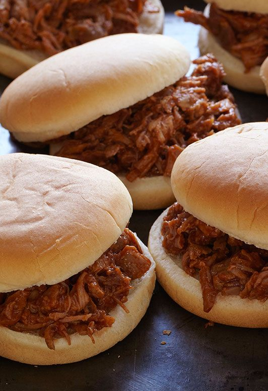 Root Beer-Spiked Pulled Pork Sandwiches #recipe
