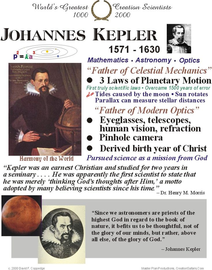 a biography of the life and times of johannes kepler His grandfather sebald, mayor of weil in 1571, when kepler was born, was   included are many for himself if we are to believe the deduced time of his  as a  man of fifty, kepler remarked that the direction of his entire life and work took its.