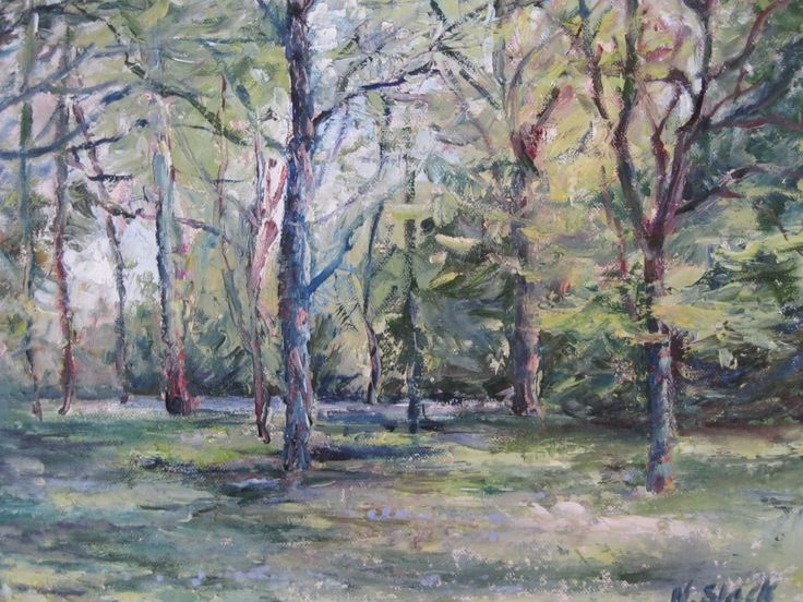 """Spring Walk, Mount Usher Gardens"" 12x10 inches www.niamhslack.com"