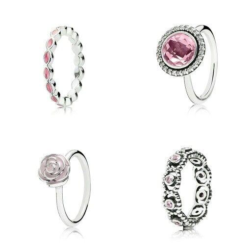 #PANDORA #rings #pink