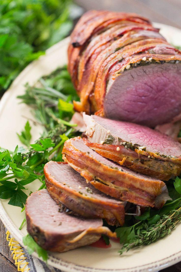 ¿Qué podría ser mejor que la carne, envuelta en tocino?  Este ojo de asado ronda es el mejor!