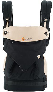 Ergo Four Position 360 Baby Carrier, Black/Camel on shopstyle.co.uk